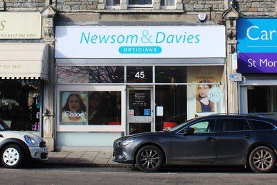 Newsom Davies Henleaze shop fascia