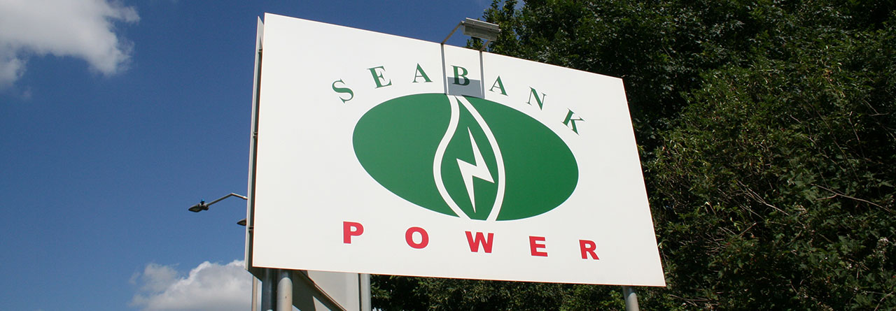 Seabank Power exterior sign