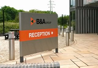 B&A Reception Sign