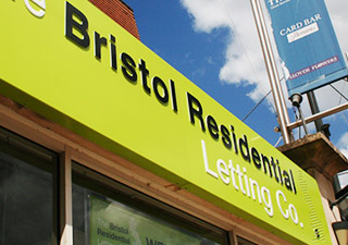 Bristol Residential Lets Clifton shop fascia