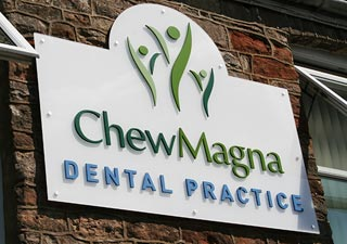 Chew Magna Dental Practice wall sign