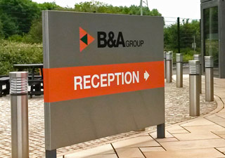 B&A Group external direction sign