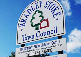 Bradley Stoke Council external sign